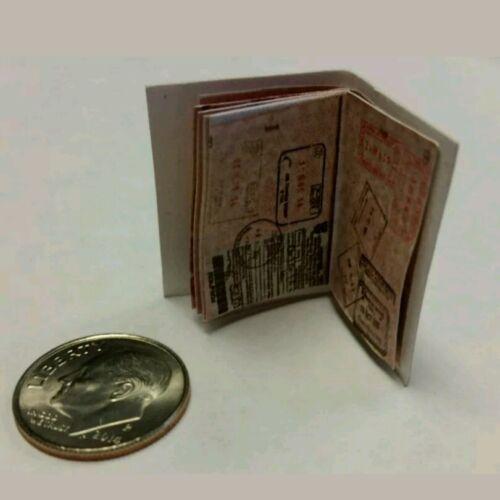 Miniature Jason Bourne passeport américain GI JOE ACTION FIGURE 1//12 scale