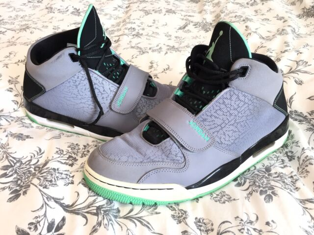 great prices new authentic united states Nike Air Jordan FLTCLB 90 S Cement Grey Black Green Glow 602661 ...