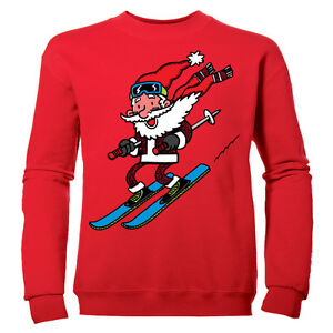 esqui-Papa-Noel-nina-regalo-navidad-papa-noel-infantil-Sudadera