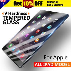 Apple iPad 2 3 4 5 Air Mini Pro 11 12.9 9.7 10.5 Tempered Glass Screen Protector