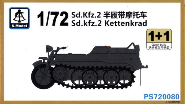 S-Model 1/72 720080 WWII German Sd.Kfz.2 Kettenkrad (2 Vehicles per Box)