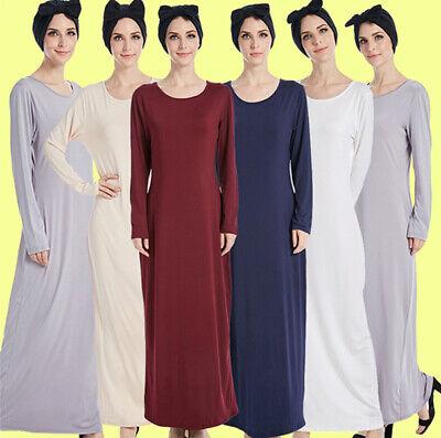 Muslim Frauen Abaya Thobe Islam Arab Kaftan Damen Langarm Robe Lange Maxi Kleid