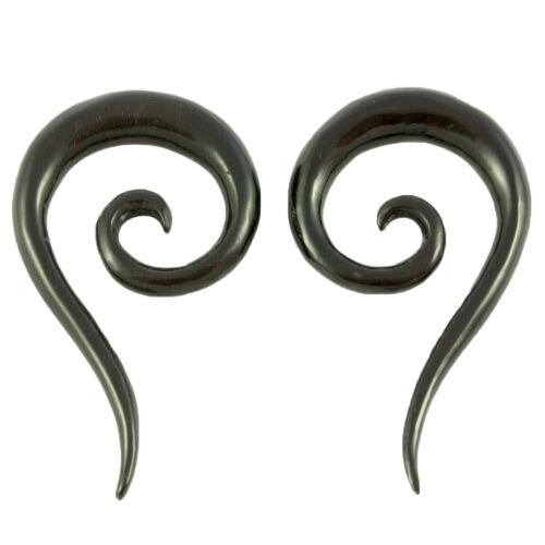 4mm o 6mm hoces Claws cuerno bollos túnel Plug oreja ear piercing 021 Par
