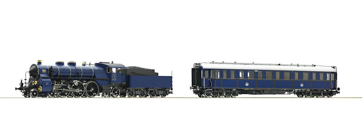 Roco 61473 2-tlg. Set  Dampflokomotive Gattung S 3 6 und Salonwagen AC Neuware
