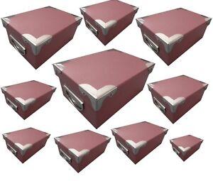 Feste & Besondere Anlässe Intellektuell 10er Geschenk Box Karton Set Mit Griff Karton Box Schachtel Stapelbox Rot-braun