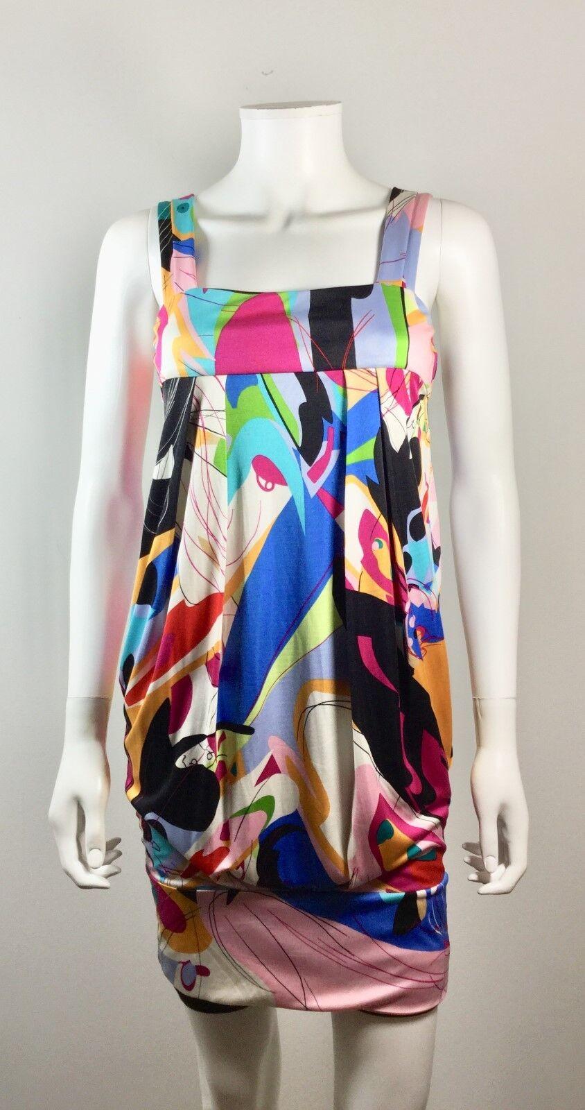 DVF DIANE VON FURSTENBERG Multi Farbe Silk ELIOT Tank Dress Größe 4