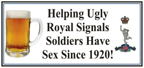 Royal Corps of Signals type fun Sticker