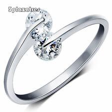 TRE doppia apertura regolabile è uno zircone di strass anelli dono bene gioielli