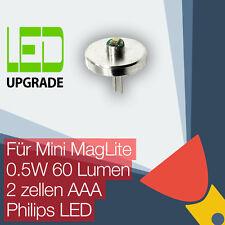 Mini MagLite LED Upgrade Ersatz lampe Taschenlampen 2AAA zellen Philips LED