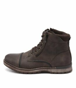 New-Uncut-Marlboro-Chocolate-Mens-Shoes-Casual-Boots-Ankle