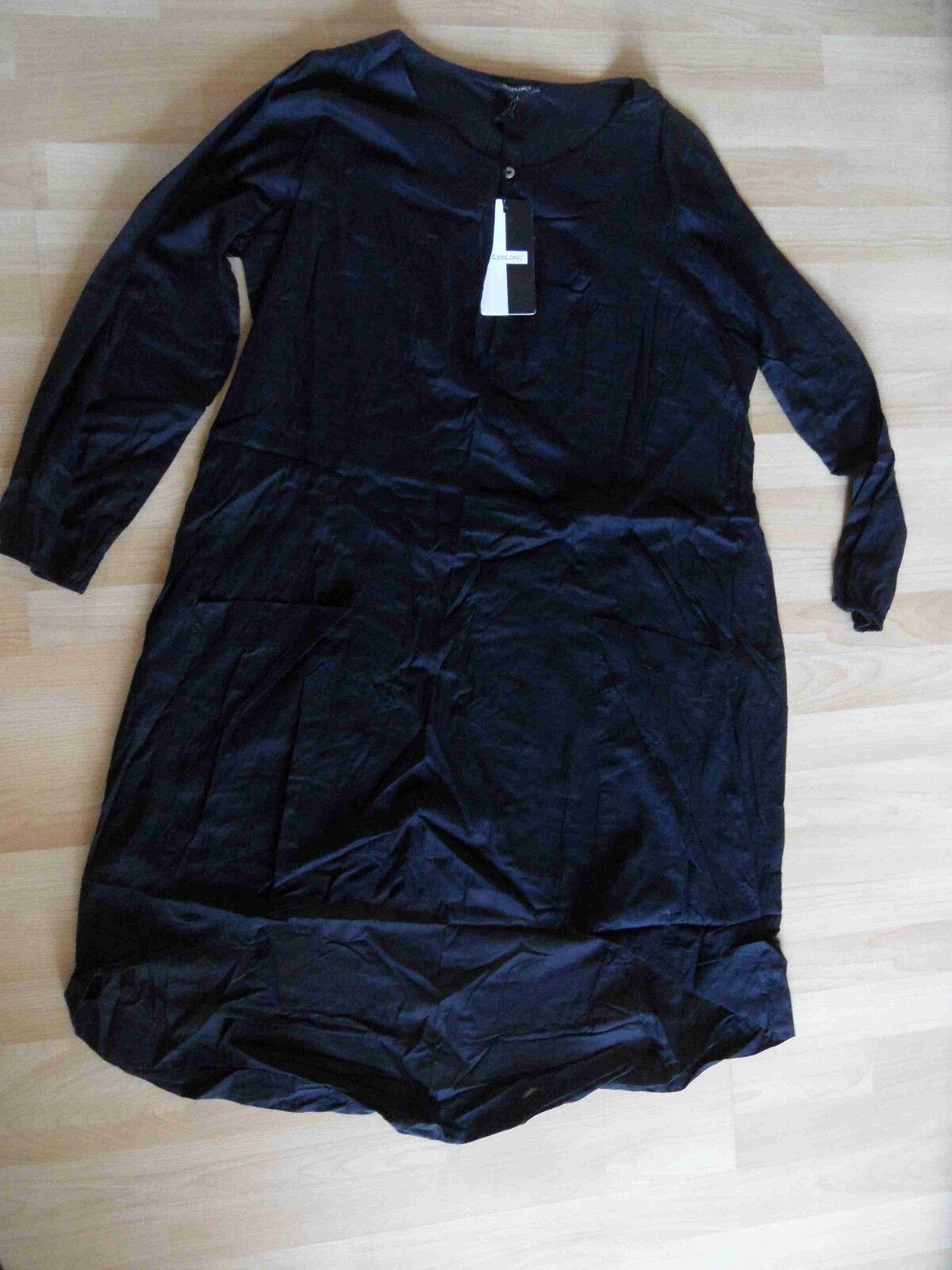 HEBBEDING schönes leichtes Tunikakleid DYLAN schwarz Gr. 1 NEU HMI115