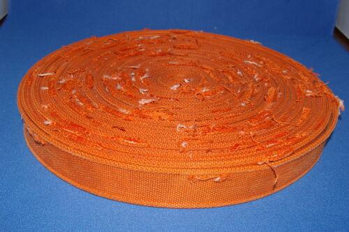 Orange Distressed Rope Edge Cotton 40mm Wide Best Quailty Webbing Craft Clothing