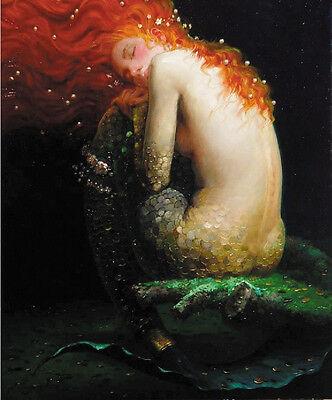 Eason-  oil painting canvas print Mermaid 15x12