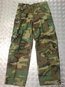 "Genuine Army M65 Trousers. Woodland Camoflauge. Large (35-39"") Regular - NEW"