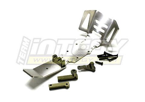 T3226  Titanium F+Mid Skid Plate for 1 10 Revo3.3, E-Revo, Slayer(both)  acquisti online