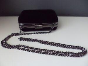 bc6eb80bcdb2 Image is loading Giorgio-Armani-Parfums-Black-Velvet-Evening-Bag-Clutch-