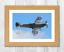 Choice of frame. Spitfire Mark IX A4 signed painting picture poster