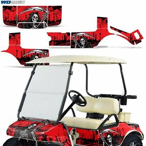 Club Car Accessories >> Details About Club Car Graphic Kit Golf Cart Decal Sticker Wrap Accessories Parts 83 14 Reap R