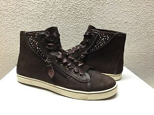 7f9c46689a9 Details about UGG BLANEY CRYSTALS CHOCOLATE ANKLE SNEAKER SHOES US 9.5 / EU  40.5 / UK 8 - NIB