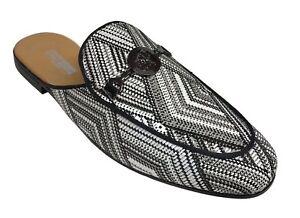 1770bf53d74 Stacy Adams Men s Sterling Slip On Mule Loafer Black White 25283-111 ...