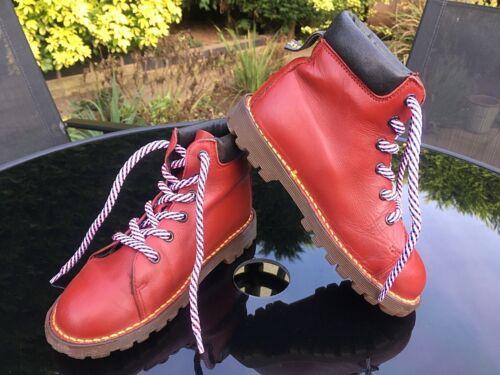 Chukka England Junior Eu Unido rojo 31 de cuero In Martens Dr Reino Boots Vintage 12 Made xnwHpZq