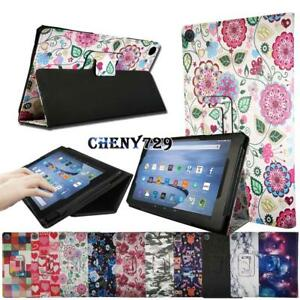 For Amazon Kindle Fire HD 10 Alexa 2015/2017 Tab Smart Leather Stand Cover Case