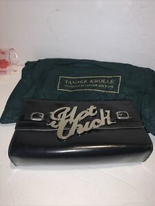 tanner krolle black clutch patent bag clutch hot chick