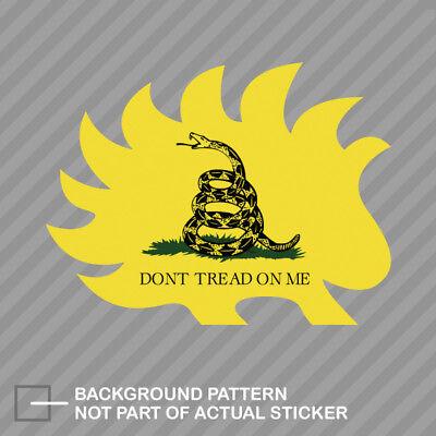 Libertarian Porcupine Vinyl Decal Sticker