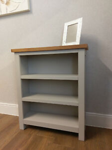sneakers for cheap 970a3 e5b0b Details about Dorset Grey Painted Low Wide Bookcase / Small Shelving  Storage Unit / Bookshelf