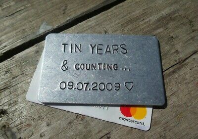 Tin Wedding Anniversary Gifts Personalised For Men Him Husband 10th Ten Years Ebay