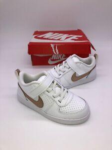 New-Nike-Court-Borough-Low-EP-TDV-White-Kids-Boys-Girls-Size-10-C
