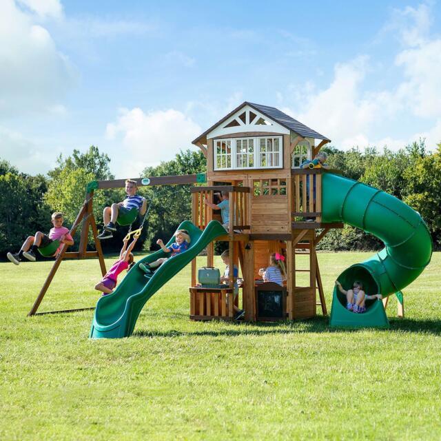 Discovery Skyfort Ii Cedar Swing Set