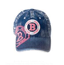 ROBIN RUTH Basecap B Berlin NEU/OVP Denim Jeans Look Cap Kappe Mütze Blau Pink