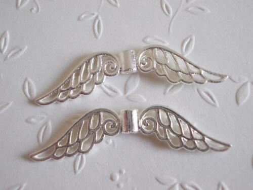 XXL Engel Flügel Metall große Engelsflügel Spacer silber 55mm 44mm 32mm Auswahl