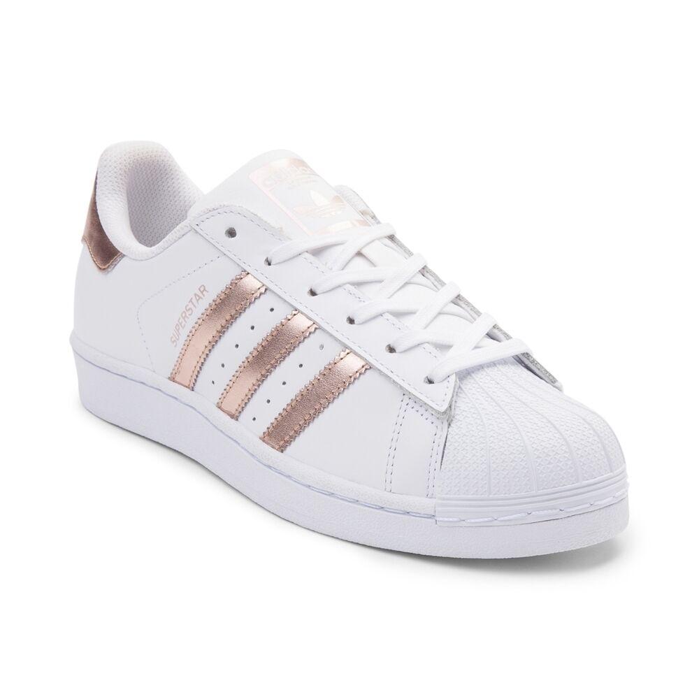 New adidas Superstar shoes White pink gold BA8169 WOMENS Retro Original RARE