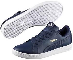 PUMA-SMASH-Femmes-Baskets-Sneakers-Chaussures-de-course-360780-011-Bleu-NEUF