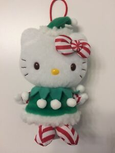 Details About Sanrio Hello Kitty Christmas Elf Plush Ornament X Mas 2012