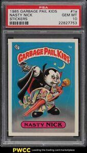 1985-Garbage-Pail-Kids-Stickers-Nasty-Nick-1a-PSA-10-GEM-MINT