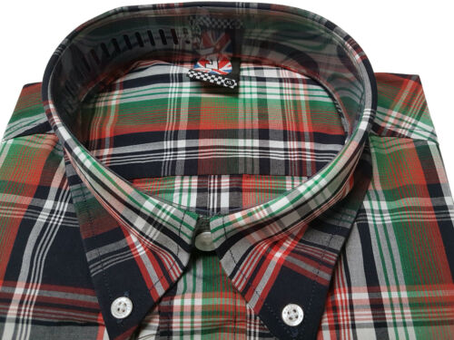 Warrior UK England Button Down Shirt MCGOOHAN Hemd Slim-Fit Skinhead Mod