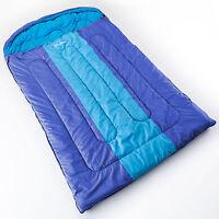 Skandika Orkney Decken Schlafsack Für 2 Personen 235x150 Bis -13°c Blau Neu