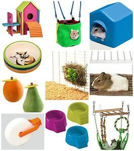 Hamster-Gerbil-Playground-Toy-Ladder-Harness-Wheel-Bowl-Bridge-Treats-KRT