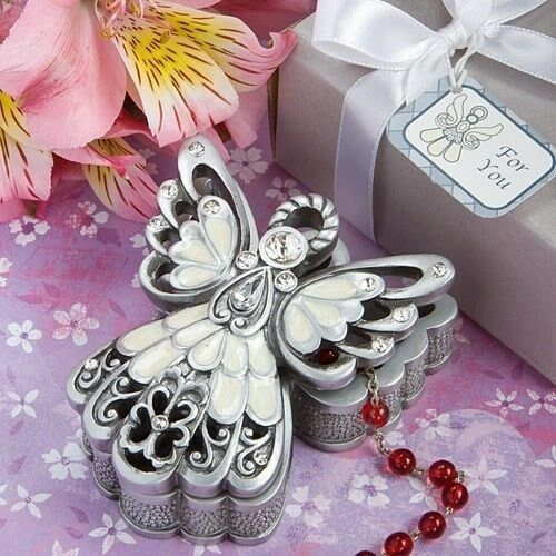 50 Angel Trinket Box Christening Baptism Baby Shower Religious Party Favors