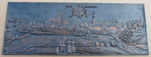 Rendsburg Gussplatte Gusseisen Ofenplatte Reinholdsburga Reliefplatte Ahlmann