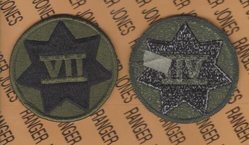 US Army 7th VII CORPS OD Green /& Black BDU uniform patch m//e