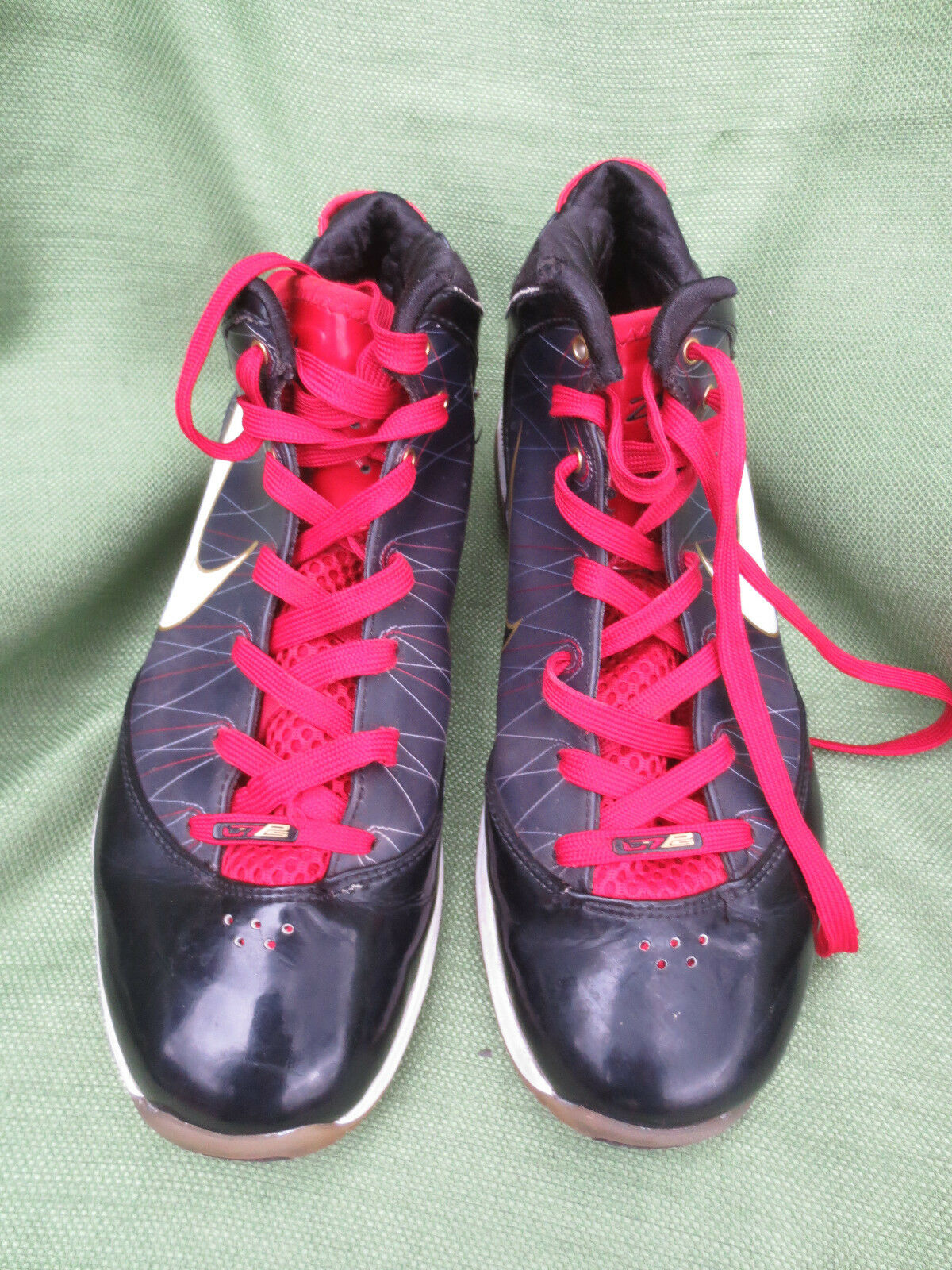 Wild casual shoes Nike Air Max Lebron VII 7 PS Post Season BLK WHT Red Gold 407639-002 Sz US 9.5