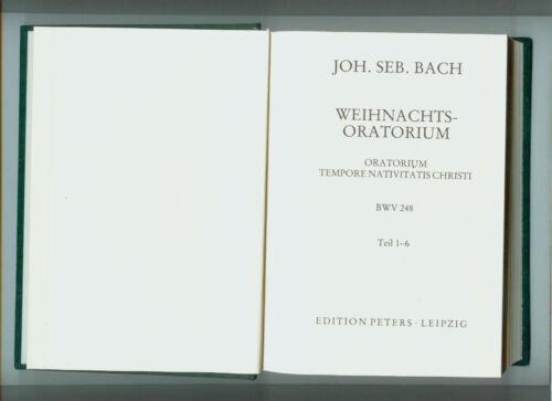 Weihnachtsoratorium Partitur Bach gebunden