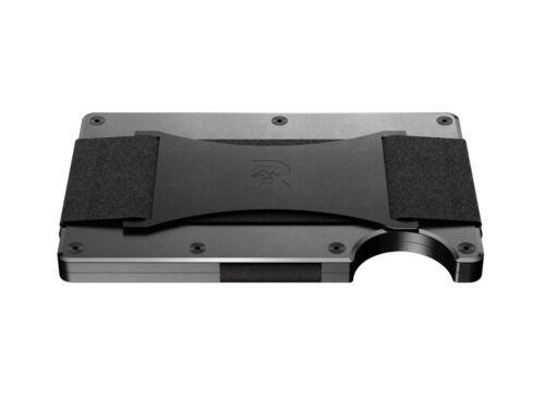 The Ridge Wallet Aluminium Gunmetal Cash StrapGeldband Geldbörse RFID sicher