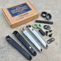 Sunday Saker Crank V2 Black Or Chrome Bmx 3 Pc Cranks W/ American Bottom Bracket
