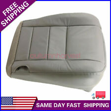 For 2002 2007 Ford F250 F350 Super Duty Driver Bottom Leather Seat Cover Gray
