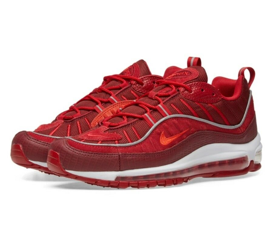 8157226d082 official store nike air max 98 se größe 9.5 uk gym authentic rot weiß  genuine authentic